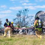 Un avión se estrella en Texas con pasajeros a bordo